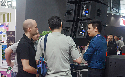 Beta Three's new active line arrays are popular at Prolight + sound Shanghai 2017