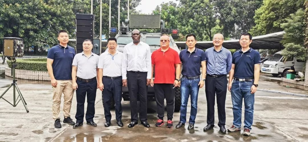 The minister of industrial trade sector from Ugandan visited our factory in Dongguan